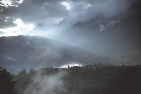 Italy, Lombardy, Alps in morning light, digitally manipulated - DWIF000553
