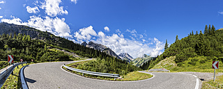 Austria, Tyrol, Mountain pass to Hahntennjoch, Panorama - STSF000844