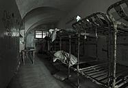 Estonia, Tallinn, Former Patarei prison, old beds - FC000738