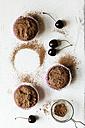 Vegan chocolate muffins with cherries, sugar-free and full-value - EVGF002100