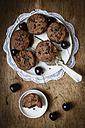 Vegan chocolate muffins with cherries - EVGF002105