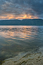 Bulgaria, Rhodope Mountains, sunset at Dospat Reservoir - DEGF000511