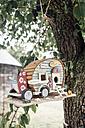 Caravan Bird Houses hanging in a tree - IPF000239