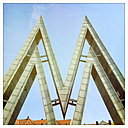Germany, Leipzig, letter M at old trade fair premises - GW004445