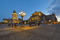 Germany, Berlin, view to Konzerthaus and German Cathedral at Gendarmenmarkt - RJF000486