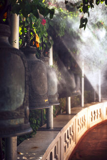 Thailand, Bangkok, bells in a Buddhist temple - EH000162