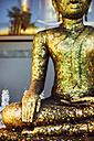 Thailand, Bangkok, Buddha statue in a Buddhist temple, close up - EH000159