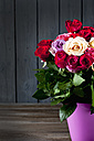 Bouquet of roses in vase, copy space - CSF026263
