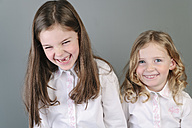 Portrait of two little sisters having fun - ECF001819