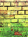 Germany, Leipzig, old brick wall - GWF004466