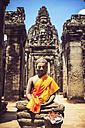 Cambodia, Angkor Thom, Buddha statue - EHF000175