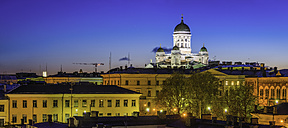 Finland, Helsinki, view to illumintaed cathedral - FV000004