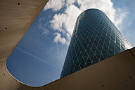 Germany, Frankfurt, view to Westhafen Tower from below - MPA000030