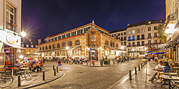 Belgium, Brussels, view to lighted Halles Saint-Gery - WD003239