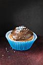 Cupcake with chocolate cream and sugar beads - MYF001135
