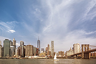 USA, New York City, View of Manhattan skyline and East River - ONF000865