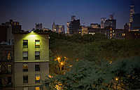 USA, New York City, View of skyline from East Village - ONF000922