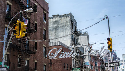 USA, New York City, Entrance to Little Italy district - ONF000898