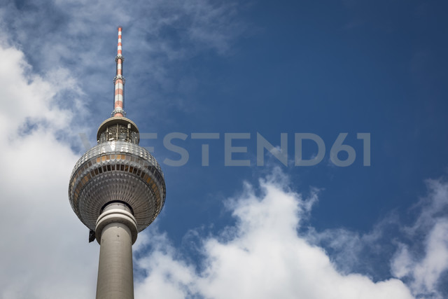 Germany, Berlin, view to television tower from below - NKF000377