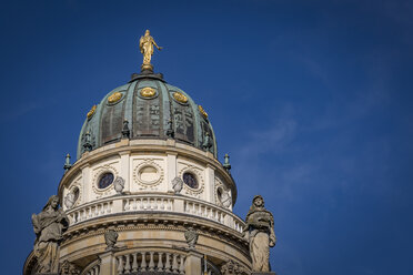 Germany, Berlin, dome of German cathedral at Gendarmenmarkt - NKF000392