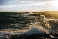 Italy, Apulia, Beautiful sunset on the Mediterranean Sea - GIOF000092