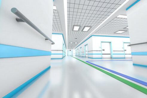 3D rendered illustration, modern hospital - SPCF000066