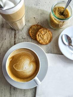 Cappuccino, Latte Macchiato and cookies - ODF001241