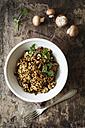 Barley risotto with champignon and coriander - EVGF002172