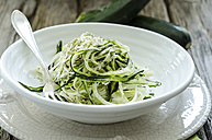 Bowl of sliced courgettes - ODF001274