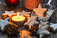 Home-baked cinnamon stars by candle light - ODF001282