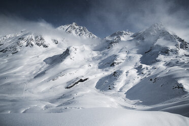 Austria, Tyrol, Ischgl, winter landscape in the mountains - ABF000672