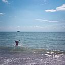 Italiy, Ca Savio, boy in the sea - LVF003806