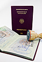 Entry stamp and stamp, passport of Federal Republic of Germany - AMF004206