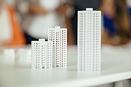 Models of high-rise buildings on table - MFF002168