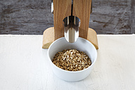 Bowl of fresh oak flakes - EVGF002219