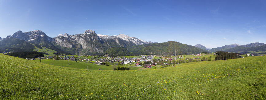 Austria, Salzburg State, Abtenau with Tennen Mountains - WWF003861