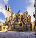 Spain, Barcelona, Cathedral of the Holy Cross and Saint Eulalia - AMF004247