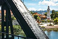 Thailand, Kanchanaburi, view from bridge over River Kwai to temple complex - EHF000228