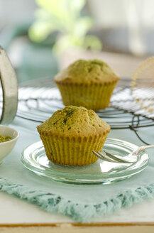 Matcha muffin on plate - ODF001334