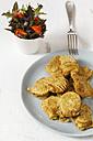 Vegetable fritter on plate - EVGF002396