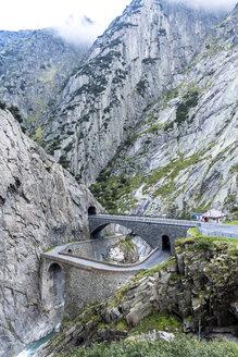 Switzerland, Uri, view to Gotthard Pass at Devil's Canyon - STSF000920