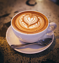 Cappuccino with milk froth, heart - AIF000041