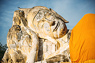 Thailand, Ayutthaya, lying Buddha statue at Wat Lokayasutharam - EHF000239