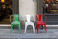Italy, chairs in national colors - KLR000133