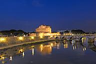 Italy, Rome, Castel Sant'Angelo at night - KLR000158