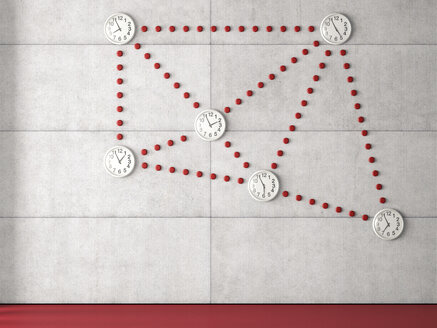 3D Rendering, clocks, time zone, world clocks, network - UWF000614