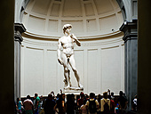 Italy, Florence, Michelangelo's David in Galleria dell'Accademia - GEM000440
