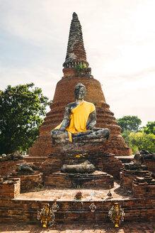Thailand, Ayutthaya, Buddha statue - EH000242