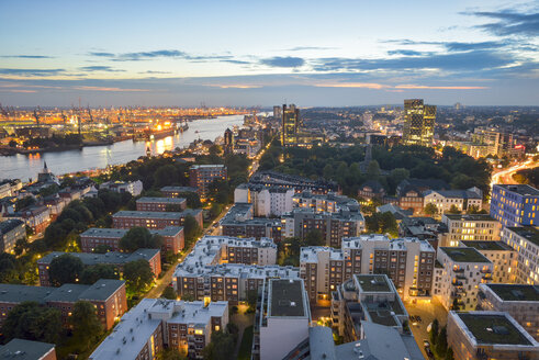 Germany, Hamburg, Cityscape in the evening - RJF000502