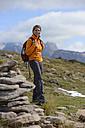 Italy, Alto Adige, Urtijei, portrait of smiling hiker - LBF001232